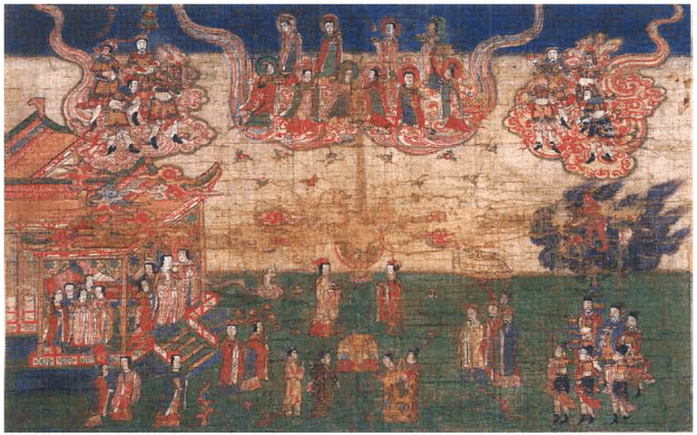 A painting of Mani's birth