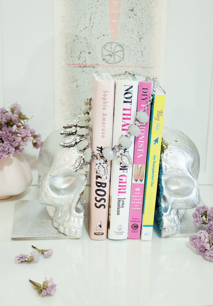 DIY Skull Book Ends