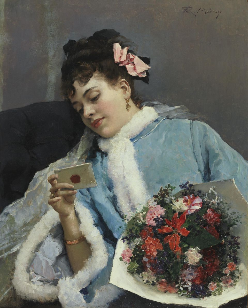 Raimundo Madrazo's painting The Love Letter