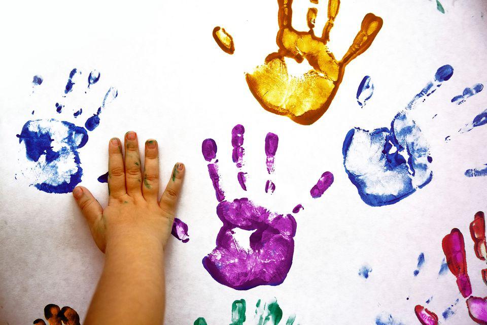 Child handprints