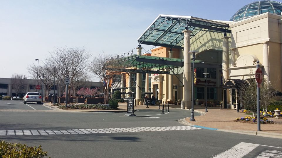 The entrance to Charlotte's SouthPark Mall.