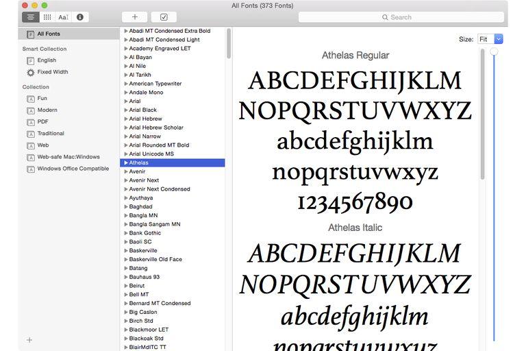 Font Book application
