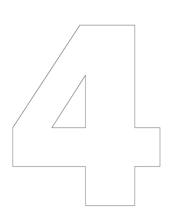 Number Pictures To Color Number 4 Coloring Pages