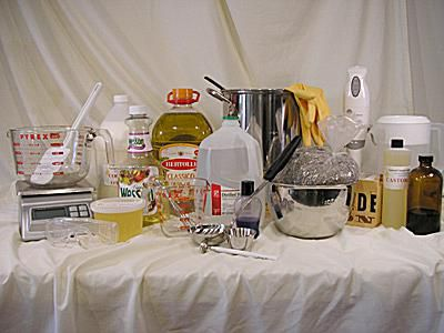 Ingredients and Tools for Soap Making