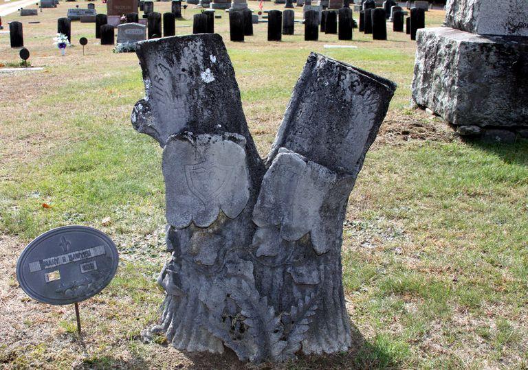 Cemetery treestone