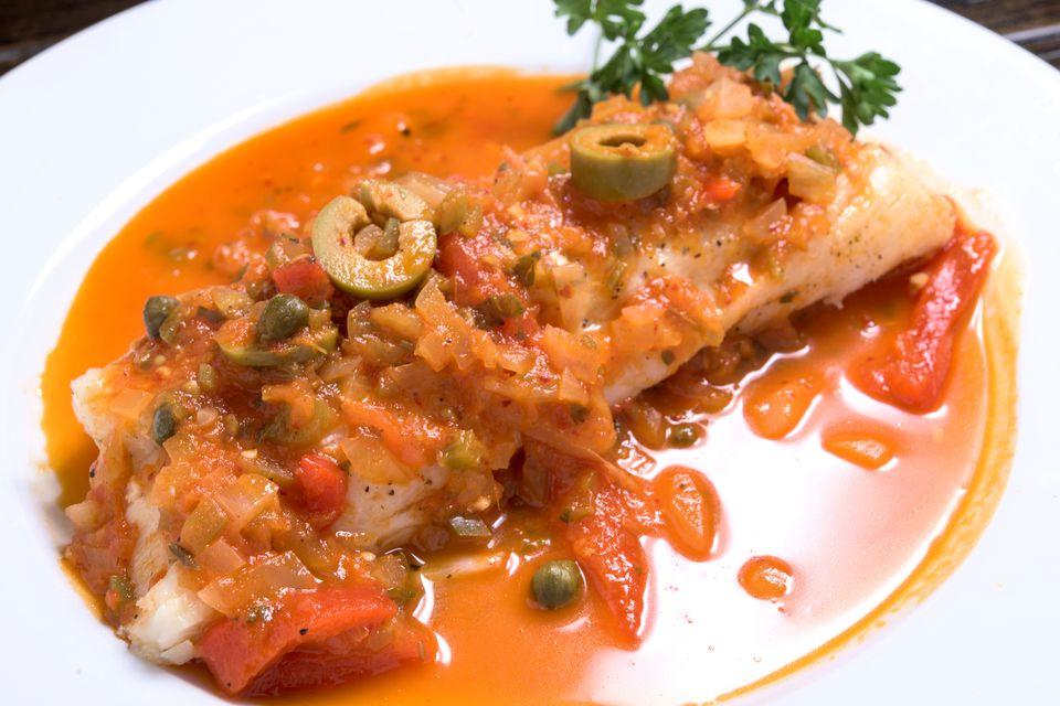 White Fish in a Veracruz Sauce