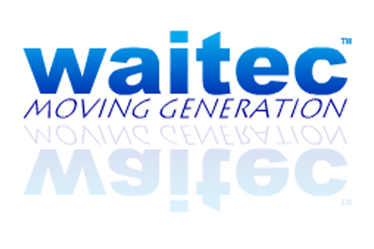 Screenshot of the WAITEC Moving Generation logo