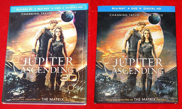 Jupiter Ascending - 2D and 3D Blu-ray Disc Packages