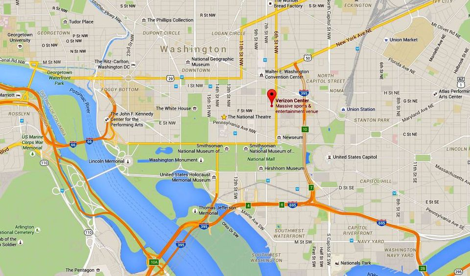 Capital One Arena Maps and Directions Washington DC
