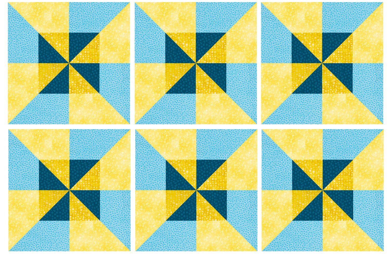 Easy Framed Pinwheels Quilt Block Pattern : pinwheel quilt - Adamdwight.com
