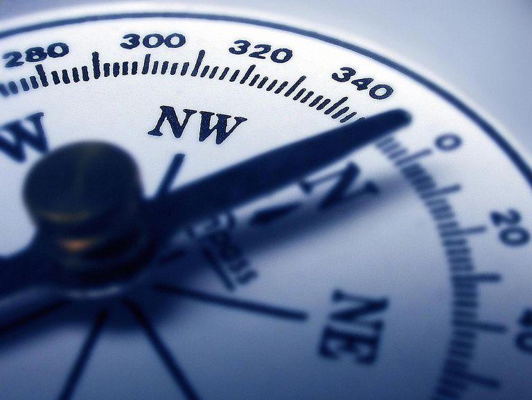 Compass facing North