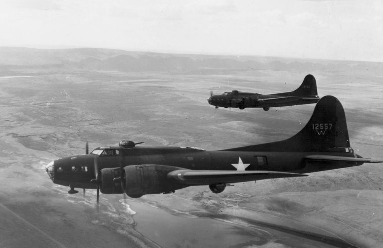 B-17 Flying Fortresses during World War II