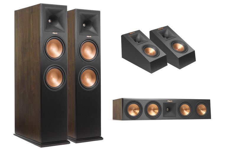 Klipsch RF-280FA (L), RP-140SA (TR), RF-450CA (BR) Dolby Atmos Speakers