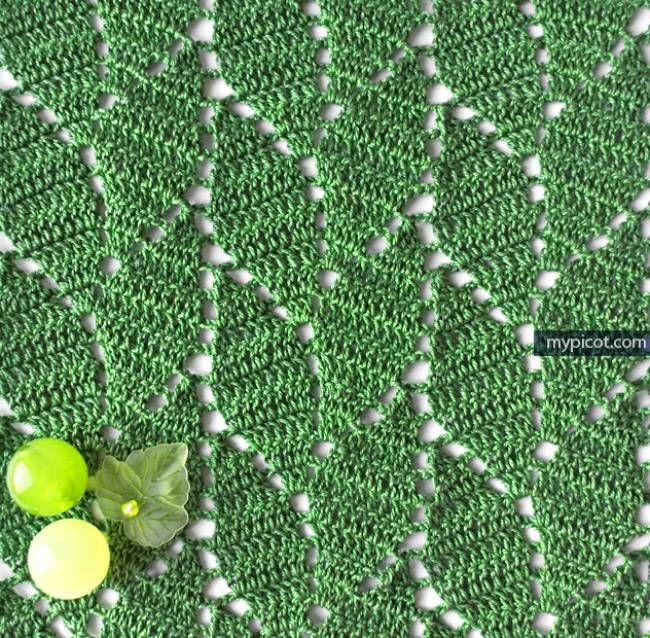 Crochet Leaf Stitch Pattern
