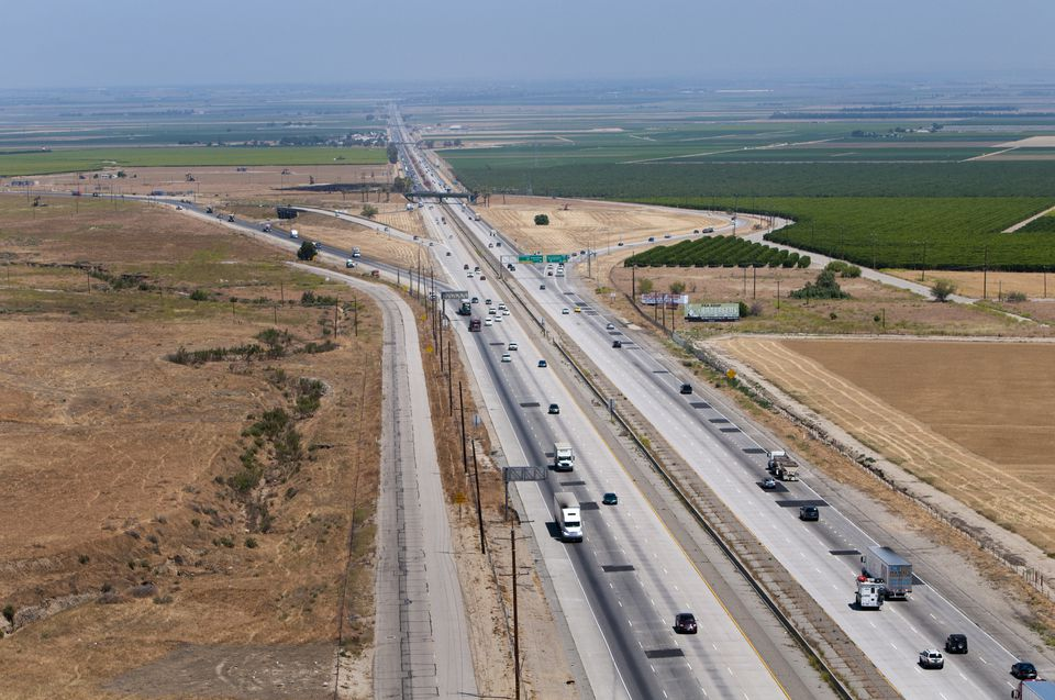 I-5 passing through Kern County California