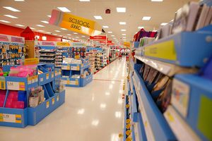 A picture of a store's school supplies