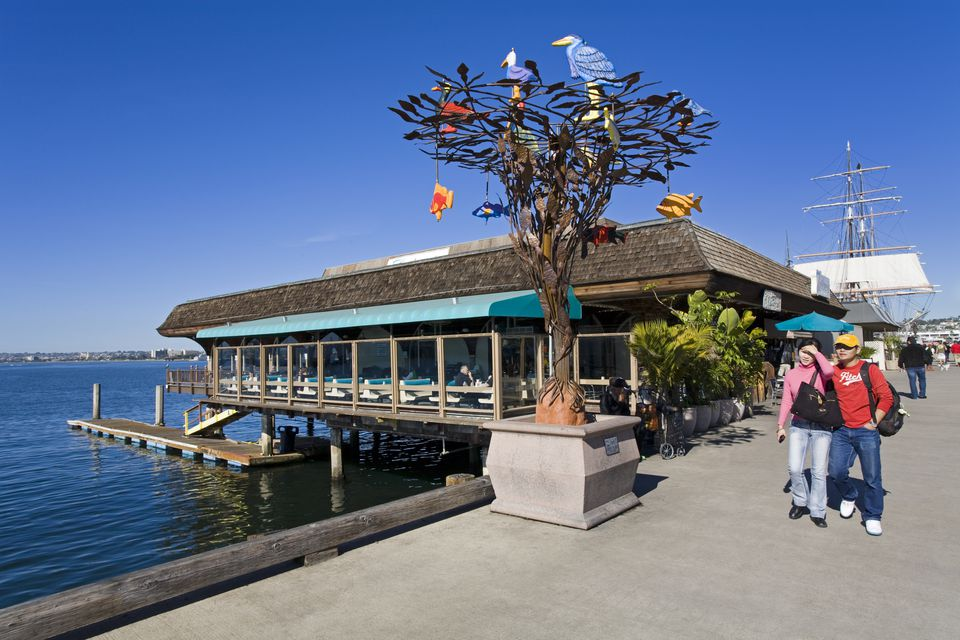Take a walk along the waterfront of San Diego
