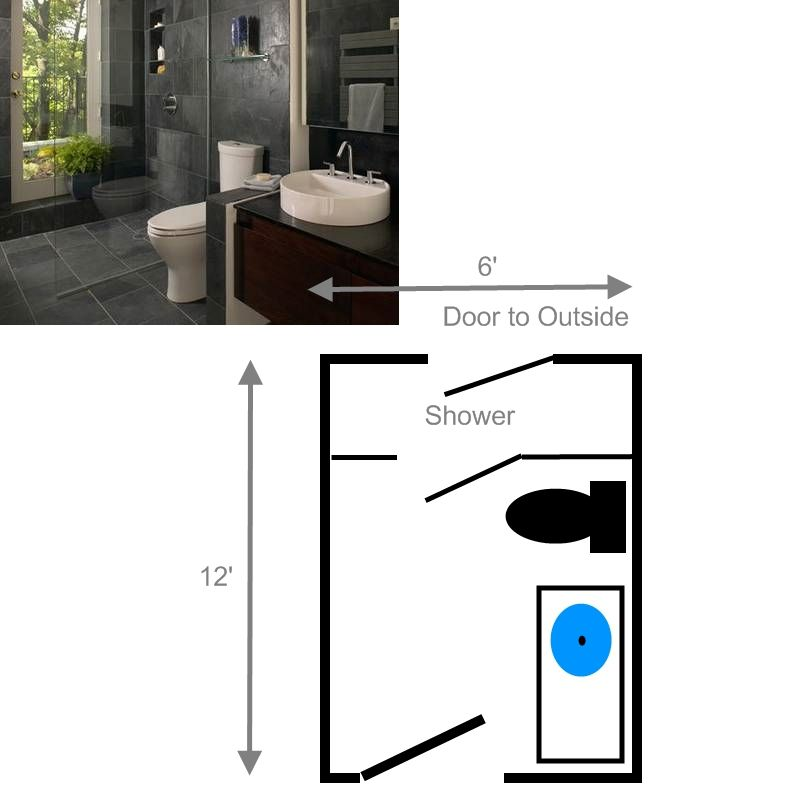 15 free sample bathroom floor plans small to large - Small bathroom floor plans with shower ...