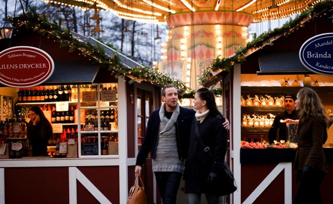 Christmas market in Gothenburg, Sweden