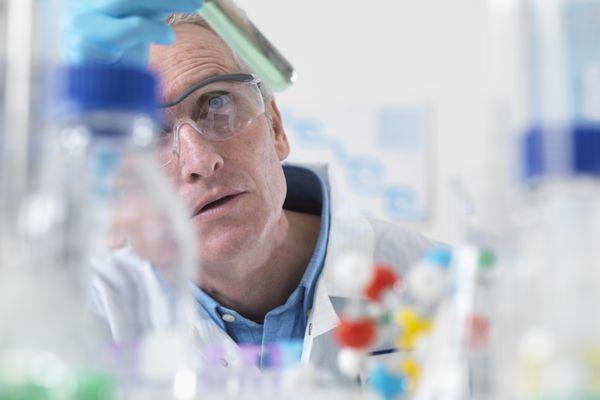 scientific research in lab