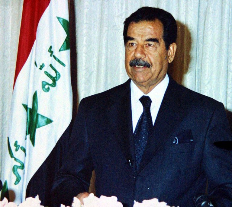 saddam hussein of iraq and marshal This file is in the public domain, because the source of this image was the iraqi  news agency, an organ of the defunct old regime in case this is not legally.