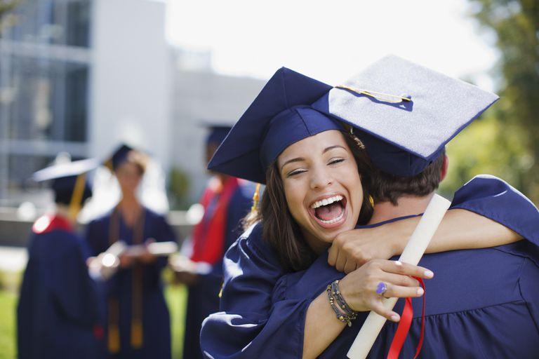 A highschooler graduating.