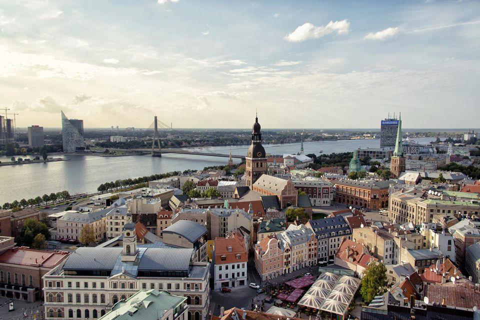 Sunlight over Riga, Latvia