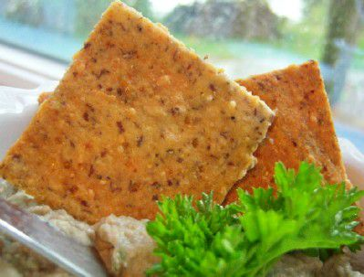 Gluten-Free / Grain Free Almond Flax Cheese Cracker Recipe Image Teri Gruss