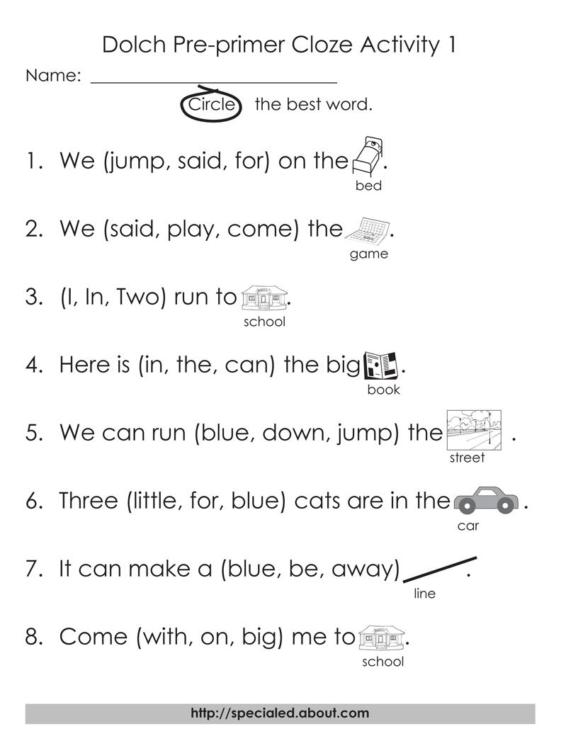 Worksheets Dolch Sight Word Worksheets free printable worksheets for dolch high frequency words