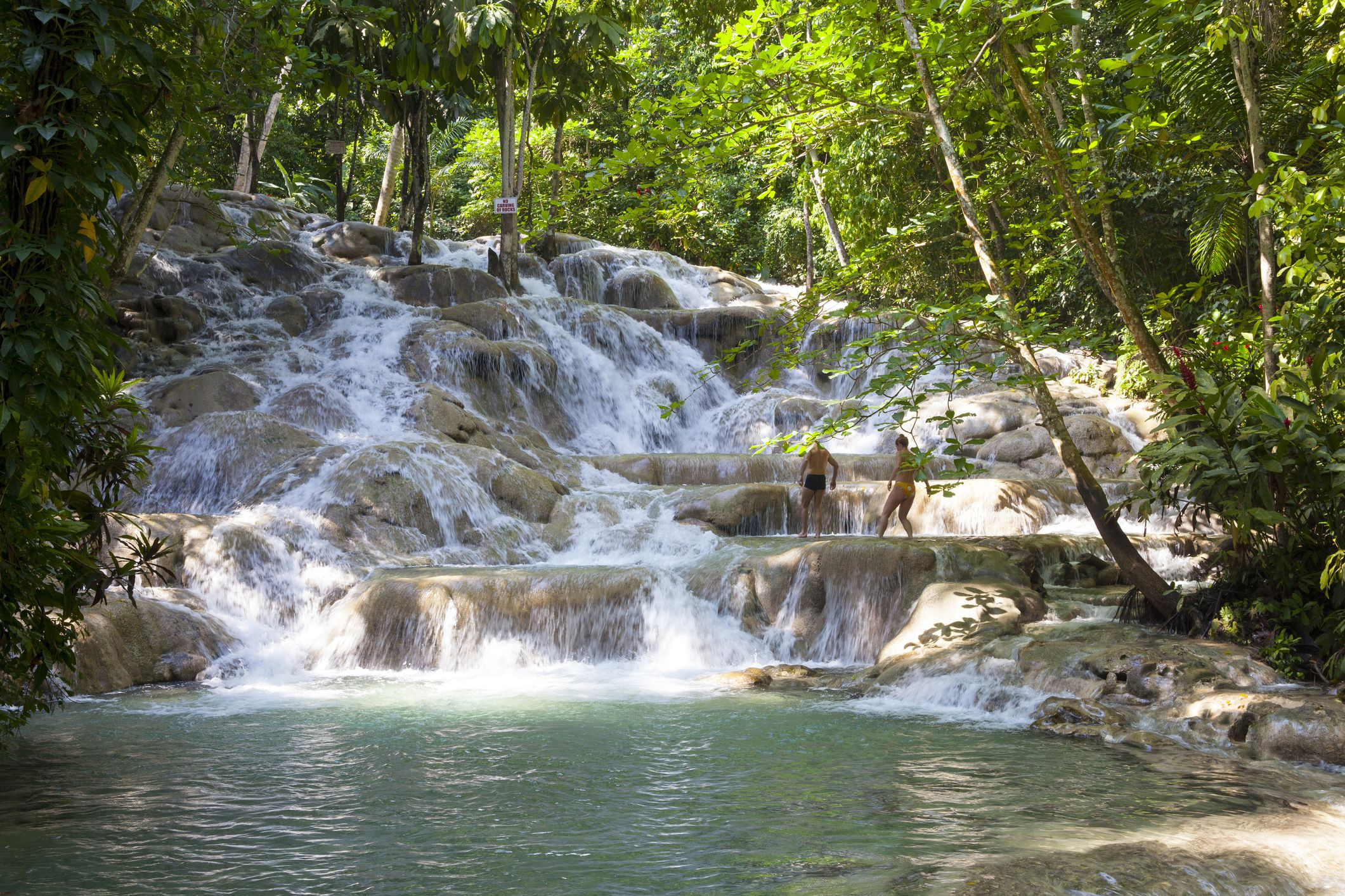 Visiting Dunn S River Falls In Jamaica