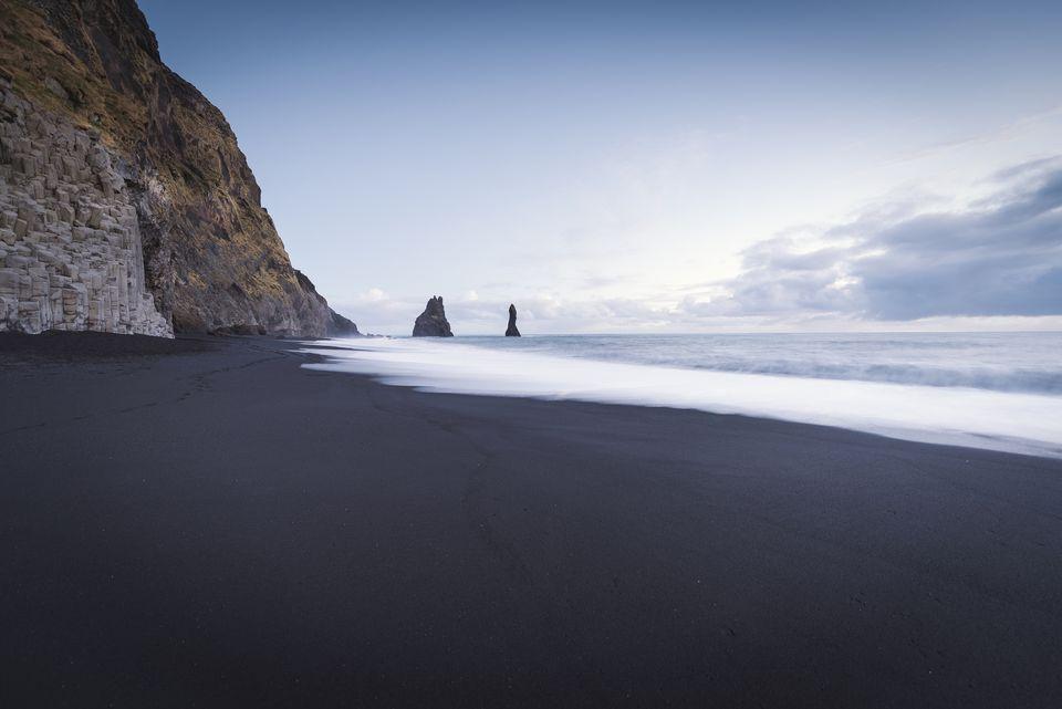 Iceland, South Iceland, Vik Rock on Reynisfjara beach