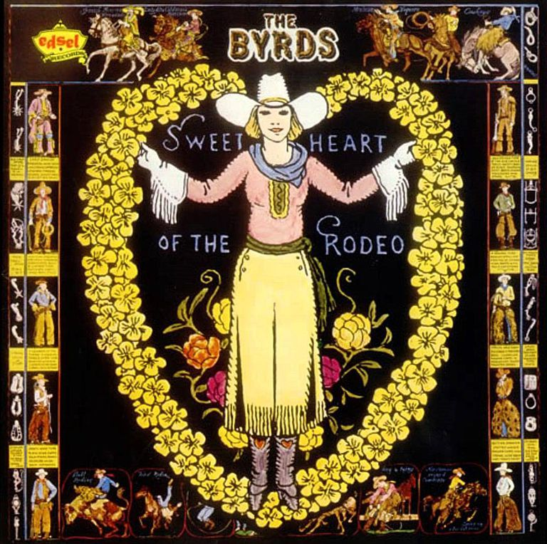 "The Byrds' classic ""Sweetheart of the Rodeo"" LP, a major event in the foundation of ""Country rock"""