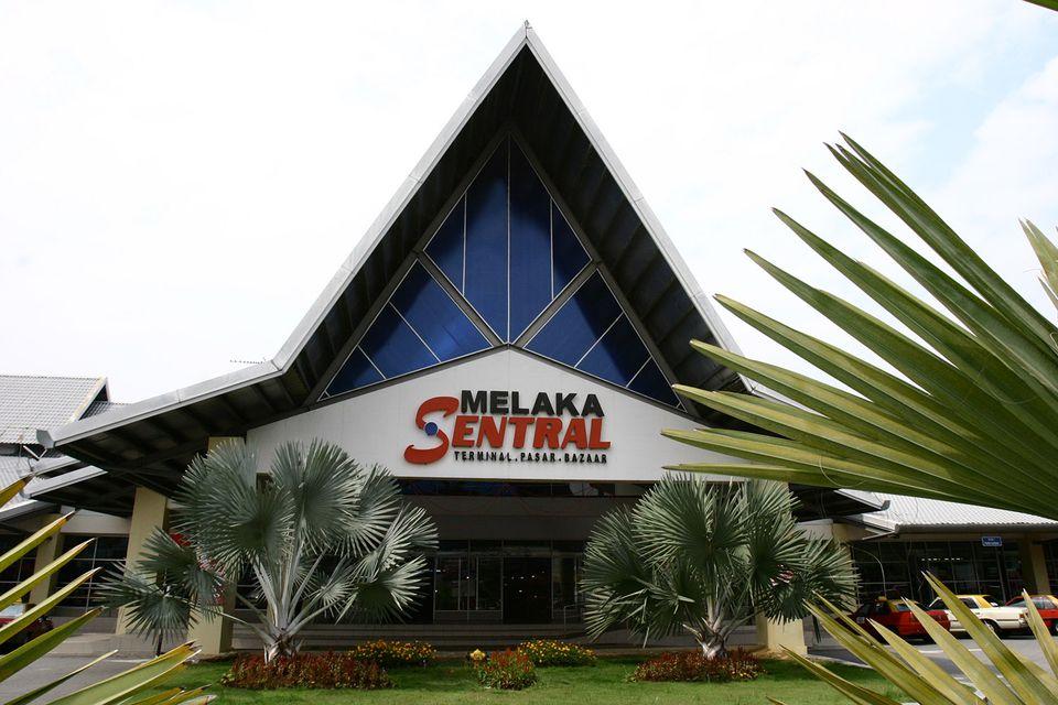 Entrance To Melaka Sentral Bus Terminal Malacca Malaysia