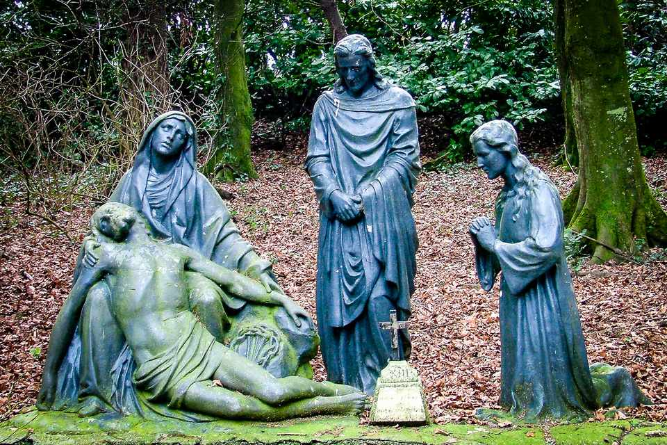 The Stations of the Cross in the Woods at Multyfarnham