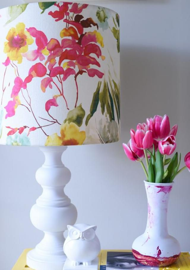Colorful lamp shades how to cover lampshades with fabric how about colorful lamp shades inspiration clever decorating ideas for lampshades review mozeypictures Image collections
