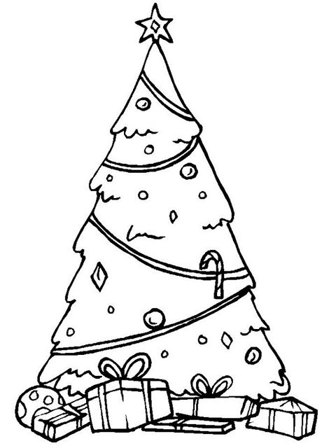 Christmas Coloring Pages At ChristmasColoring A Tree With Gifts Underneath It