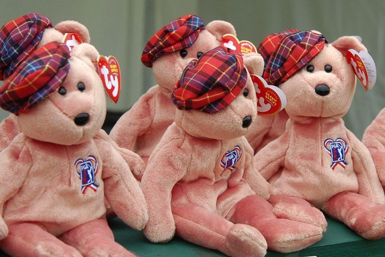The wives of PGA Tour golfers sell stuffed Beanie Babies to rsie money for charity during final round play July 11, 2004 at the PGA Tour John Deere Classic.