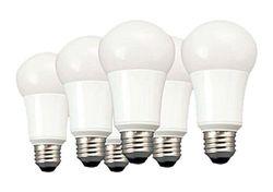 TCP 9W LED Light Bulbs (60 Watt Equivalent), A19 - E26, Medium Screw Base, Non-Dimmable, Soft White (2700K) (Pack of 6)