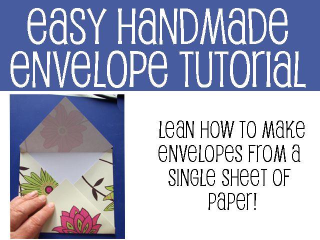 Easy handmade envelope tutorial