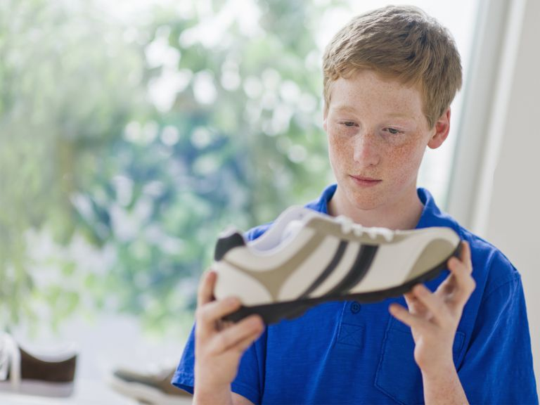 Boy with new shoes