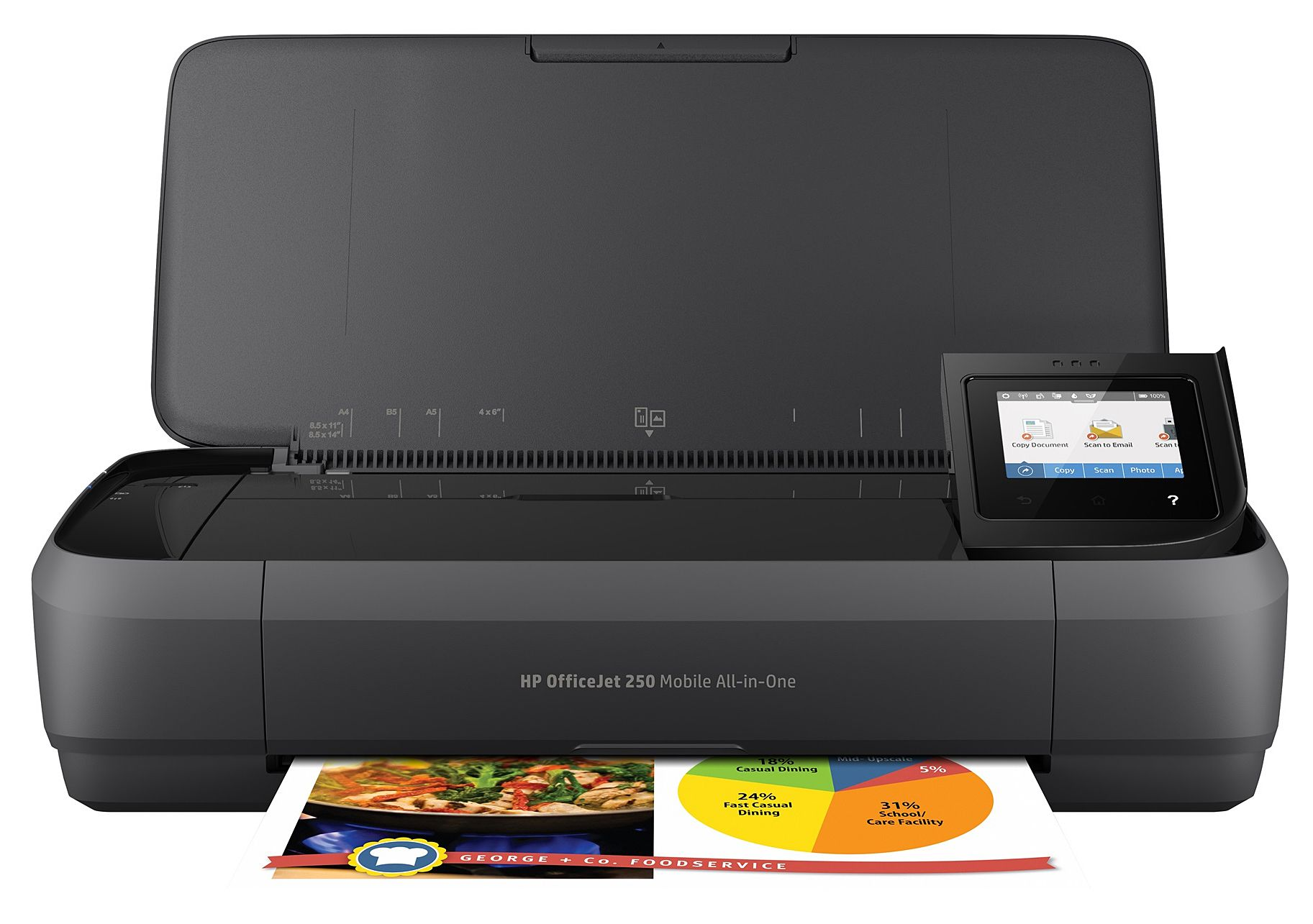 Print Scan Copy Anywhere With HPs Officejet 250 Mobile AIO Printer