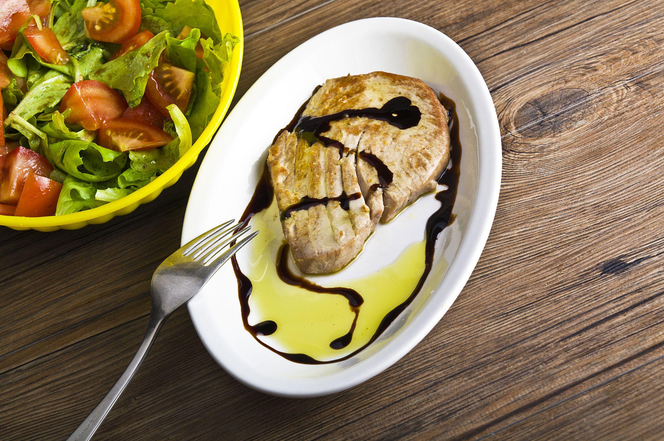 The Inaugural Post - Seared Tuna Steaks with Corn Salsa