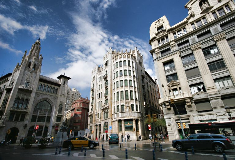 Via Laietana in Barcelona, Spain