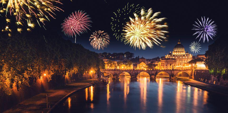 Fireworks in Rome