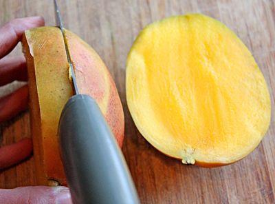 How to cut and prepare fresh mango cutting a mango step 3 ccuart Choice Image