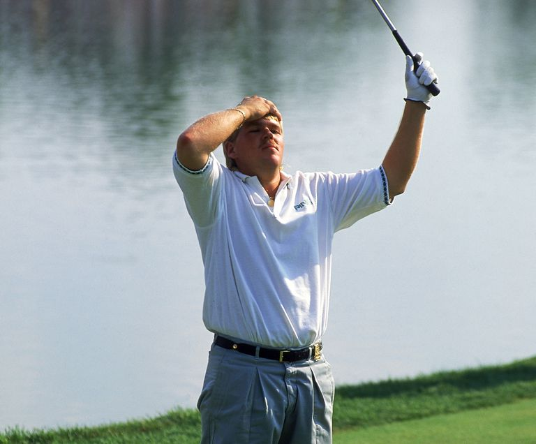 John Daly of the USA wins the USPGA Championship at Crooked Stick in Carmel, Indiana, USA in August 1991