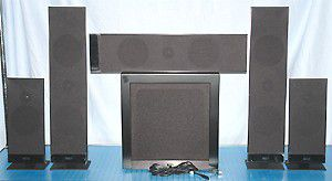 KEF T205 5.1 Channel Home Theater Speaker System - Photo of Front View