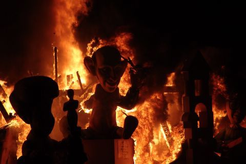 The Fallas festival takes place every March in Valencia