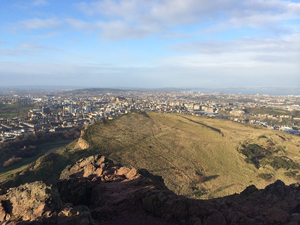 View of Edinburgh from the top of Arthur's Seat. (Click photo to enlarge)