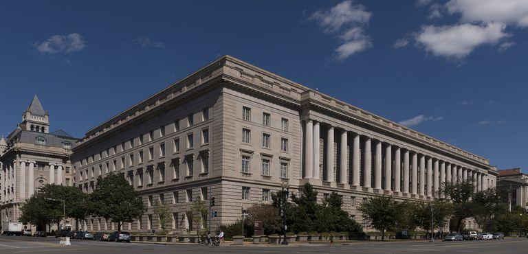 The Internal Revenue Service Building in Washington, DC